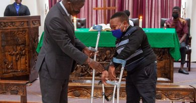 Africa University Chaplaincy makes donation to student living with disability to increase mobility and access